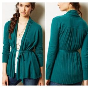 Anthropologie Angel of The North Pleated Cardigan